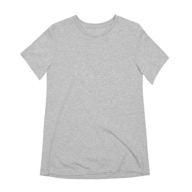 the white Medusa Women's Extra Soft T-Shirt by it's Common Sense