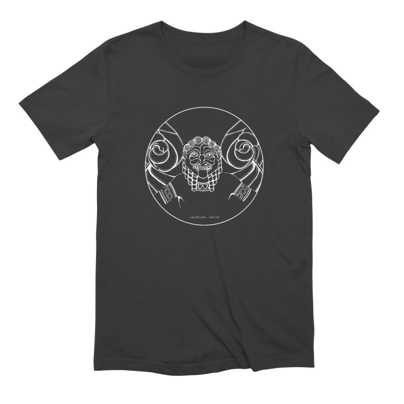 the white Medusa Men's Extra Soft T-Shirt by it's Common Sense