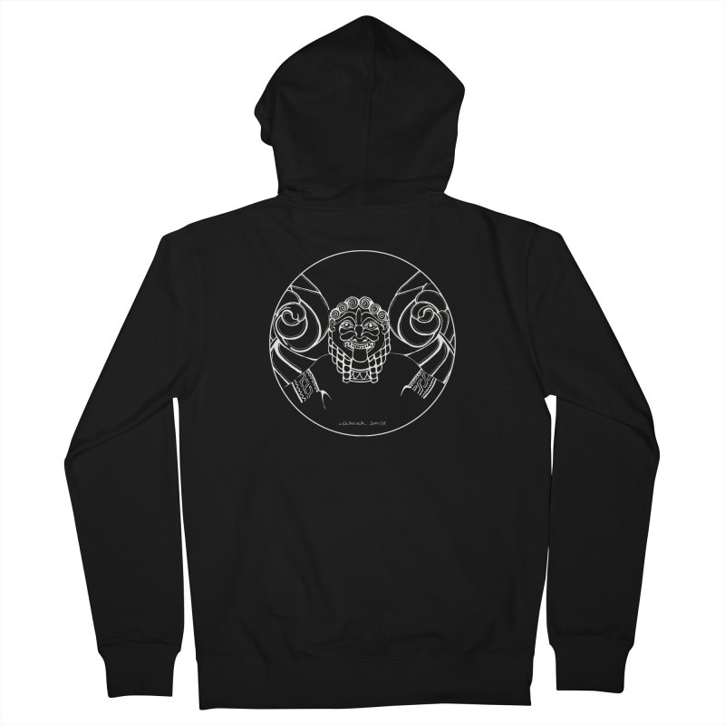 the white Medusa Men's French Terry Zip-Up Hoody by it's Common Sense