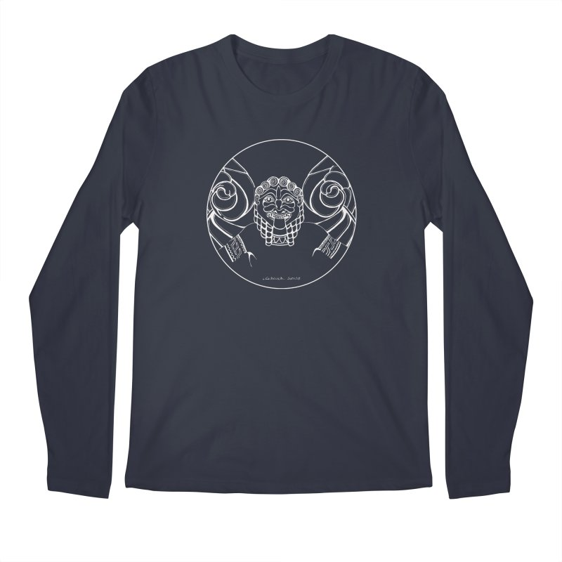 the white Medusa Men's Longsleeve T-Shirt by it's Common Sense