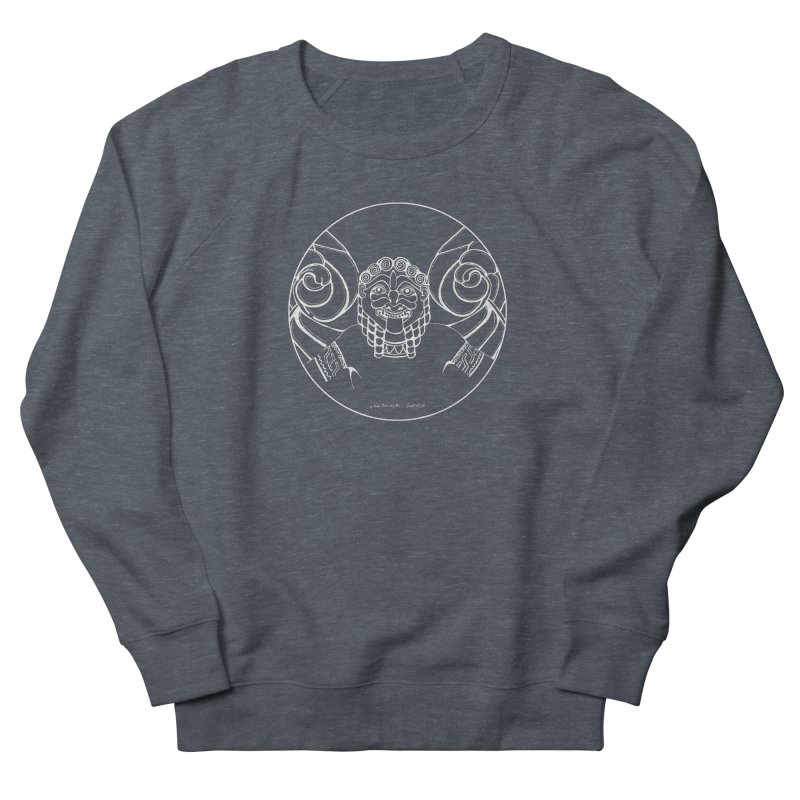 the white Medusa Men's French Terry Sweatshirt by it's Common Sense