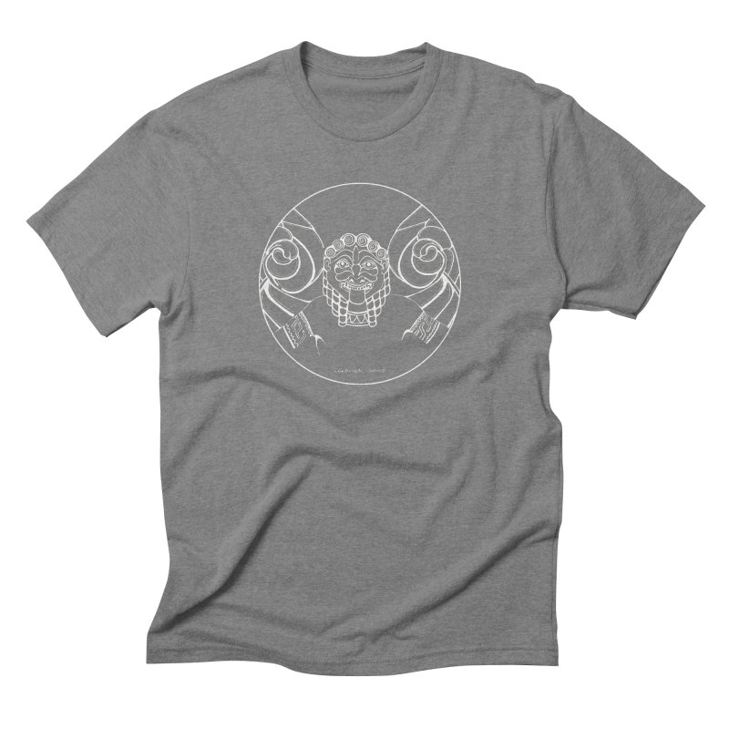 the white Medusa Men's Triblend T-Shirt by it's Common Sense