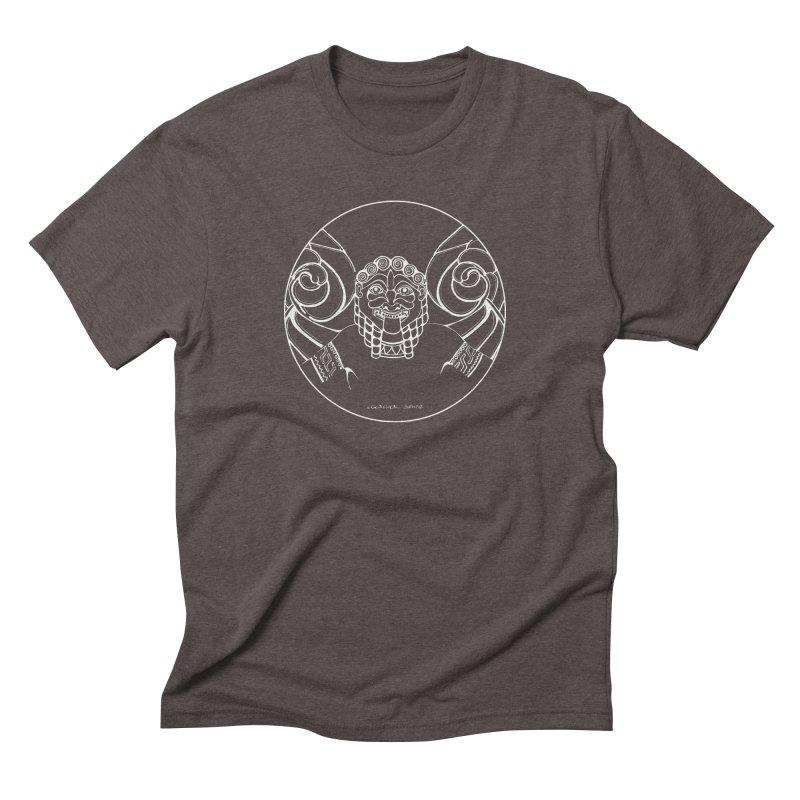 the white Medusa Men's Triblend T-Shirt by it's Common Sense
