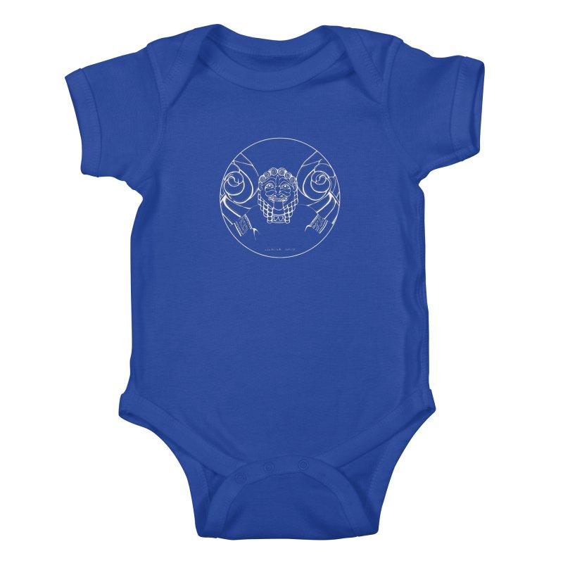 the white Medusa Kids Baby Bodysuit by it's Common Sense