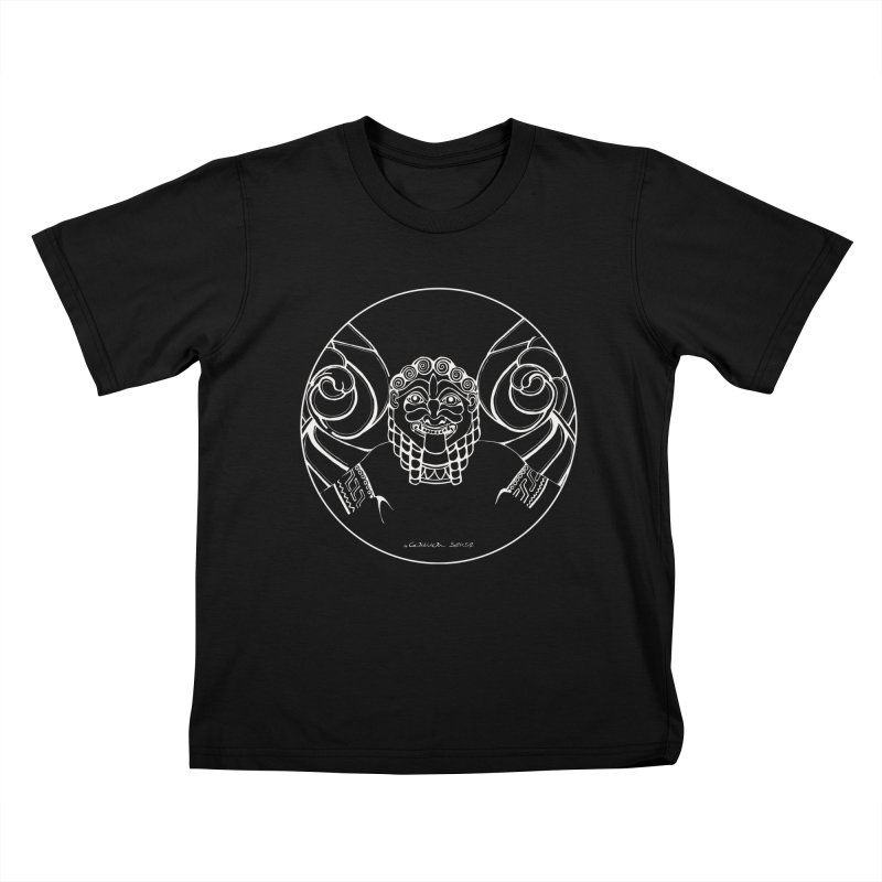 the white Medusa Kids T-Shirt by it's Common Sense