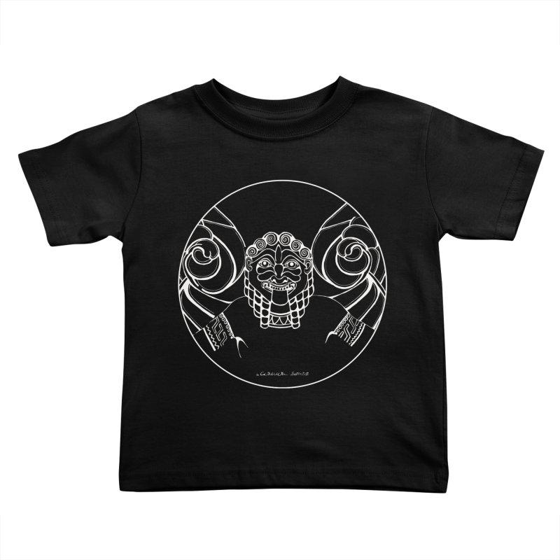 the white Medusa Kids Toddler T-Shirt by it's Common Sense