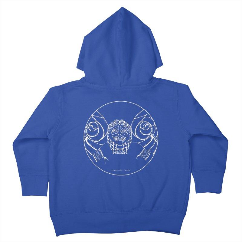 the white Medusa Kids Toddler Zip-Up Hoody by it's Common Sense