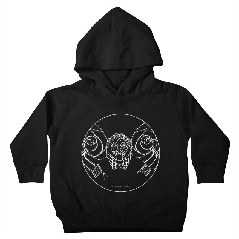 the white Medusa Kids Toddler Pullover Hoody by it's Common Sense