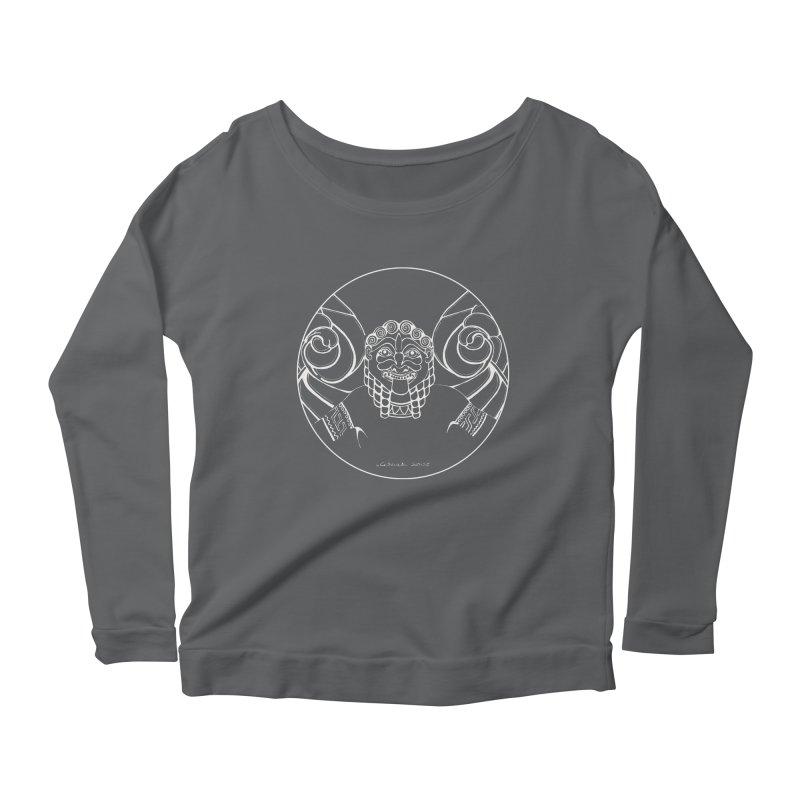 the white Medusa Women's Scoop Neck Longsleeve T-Shirt by it's Common Sense