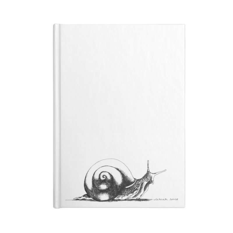 the Snail Accessories Lined Journal Notebook by it's Common Sense