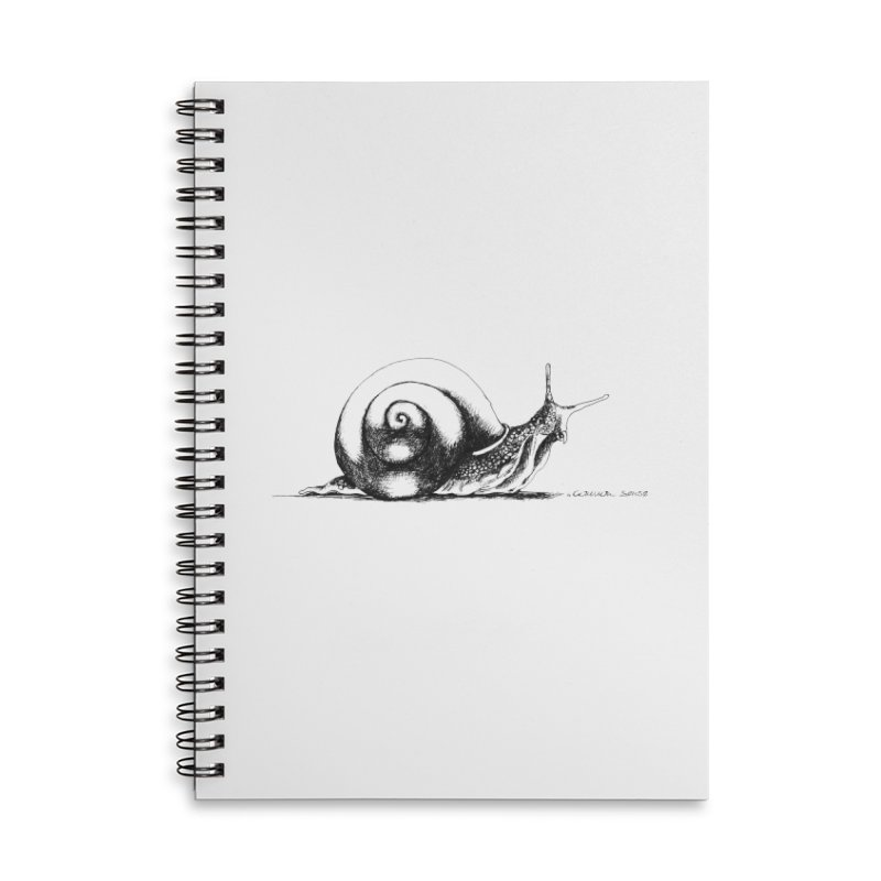 the Snail Accessories Lined Spiral Notebook by it's Common Sense