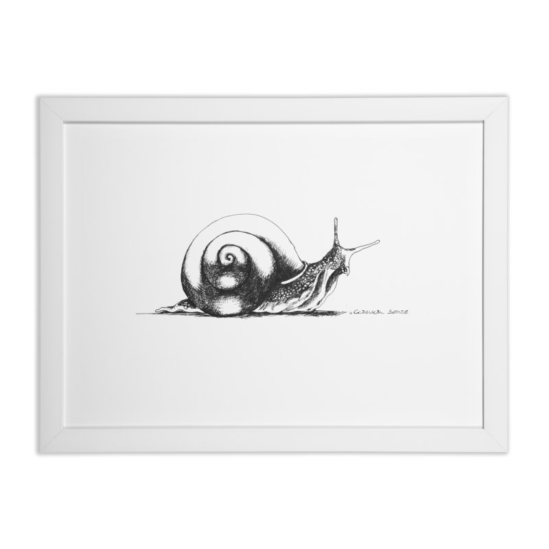 the Snail Home Framed Fine Art Print by it's Common Sense