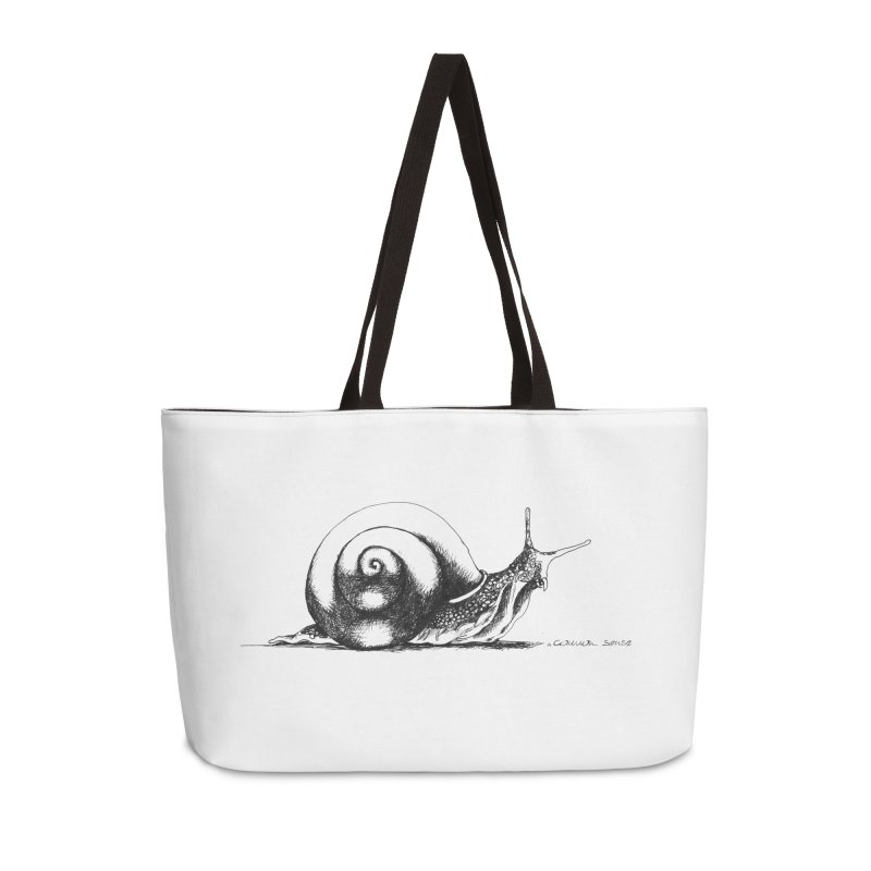 the Snail Accessories Weekender Bag Bag by it's Common Sense