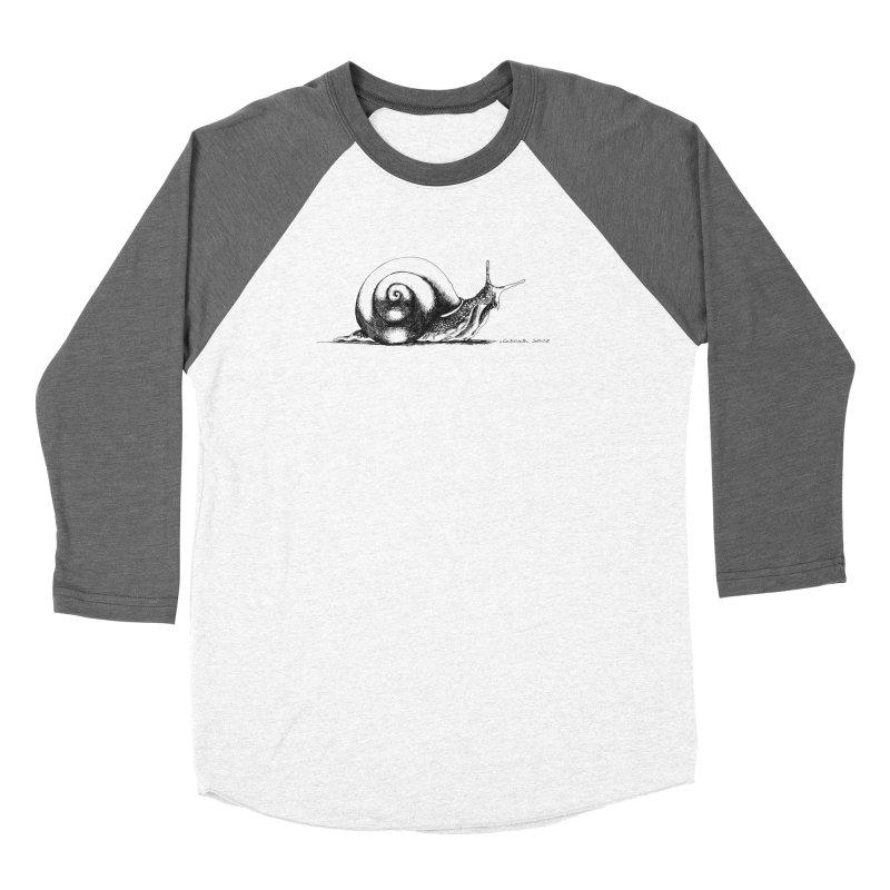 the Snail Women's Baseball Triblend Longsleeve T-Shirt by it's Common Sense
