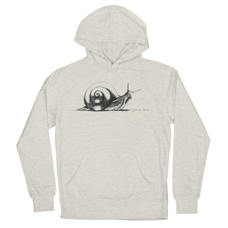 the Snail Women's French Terry Pullover Hoody by it's Common Sense