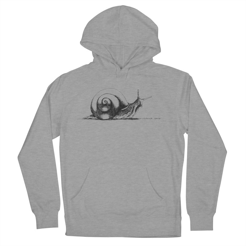 the Snail Men's French Terry Pullover Hoody by it's Common Sense