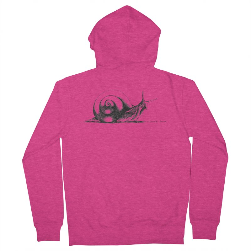 the Snail Women's French Terry Zip-Up Hoody by it's Common Sense