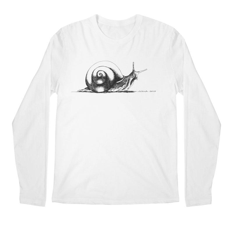 the Snail Men's Regular Longsleeve T-Shirt by it's Common Sense