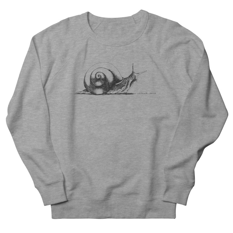 the Snail Men's French Terry Sweatshirt by it's Common Sense
