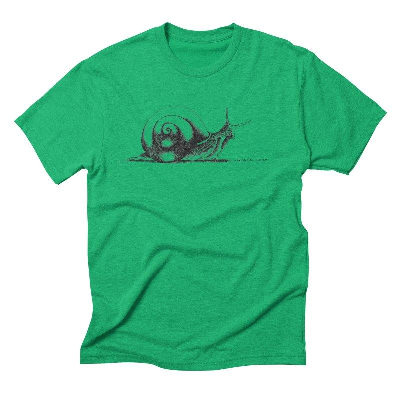 the Snail Men's Triblend T-Shirt by it's Common Sense
