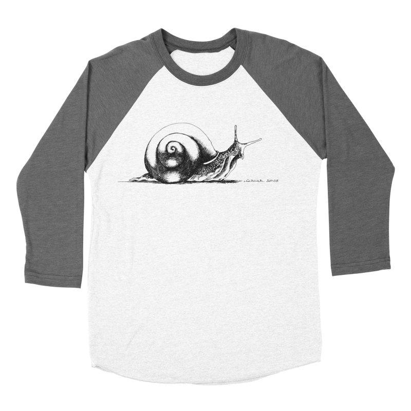 the Snail Men's Baseball Triblend Longsleeve T-Shirt by it's Common Sense