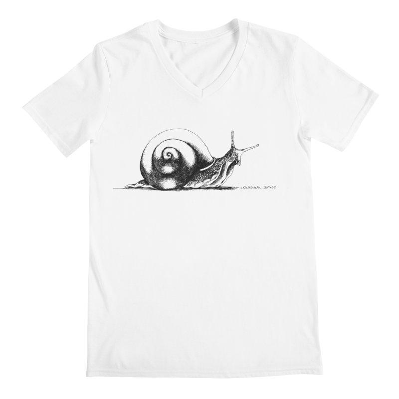 the Snail Men's V-Neck by it's Common Sense