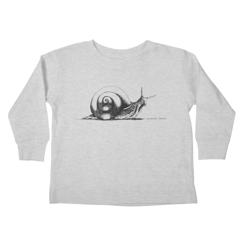 the Snail Kids Toddler Longsleeve T-Shirt by it's Common Sense