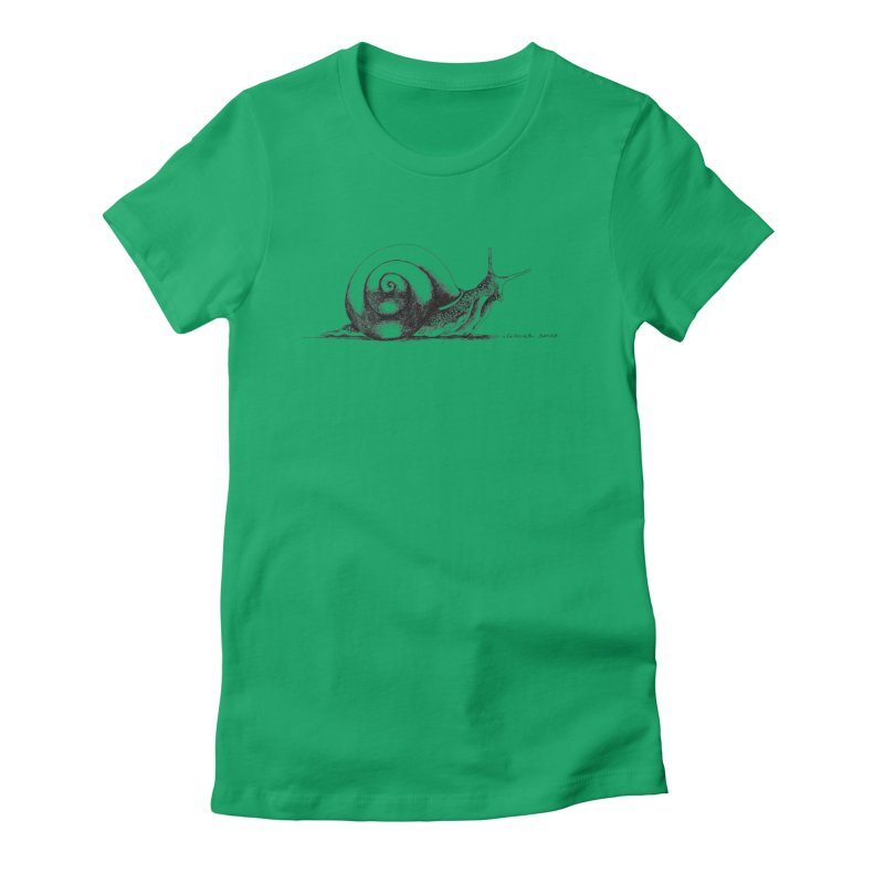the Snail Women's Fitted T-Shirt by it's Common Sense