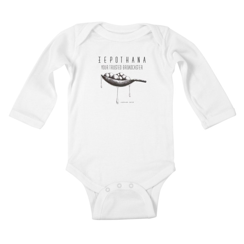Your Trusted Broadcaster Kids Baby Longsleeve Bodysuit by it's Common Sense