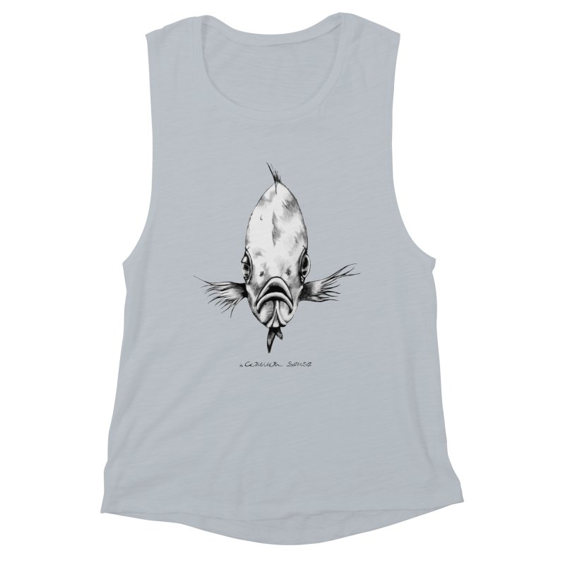 The Fish Women's Muscle Tank by it's Common Sense