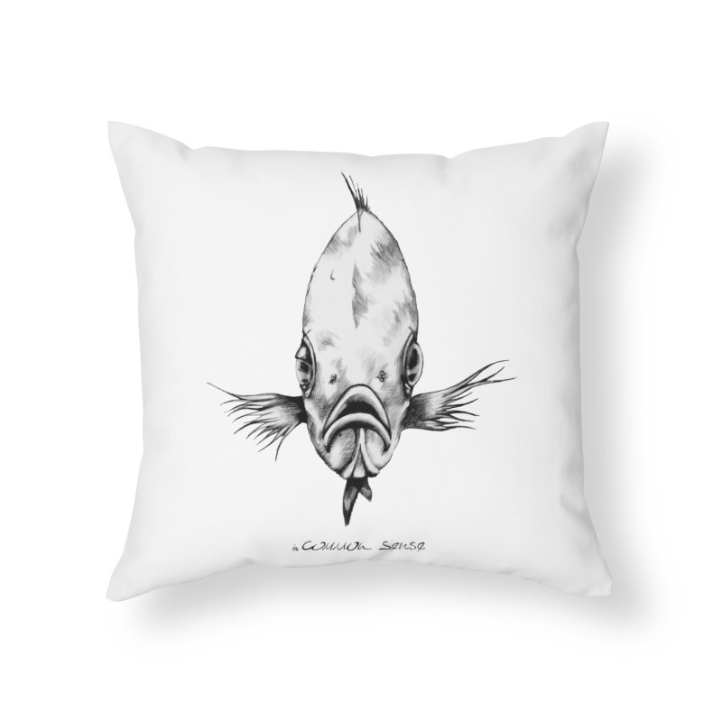 The Fish Home Throw Pillow by it's Common Sense
