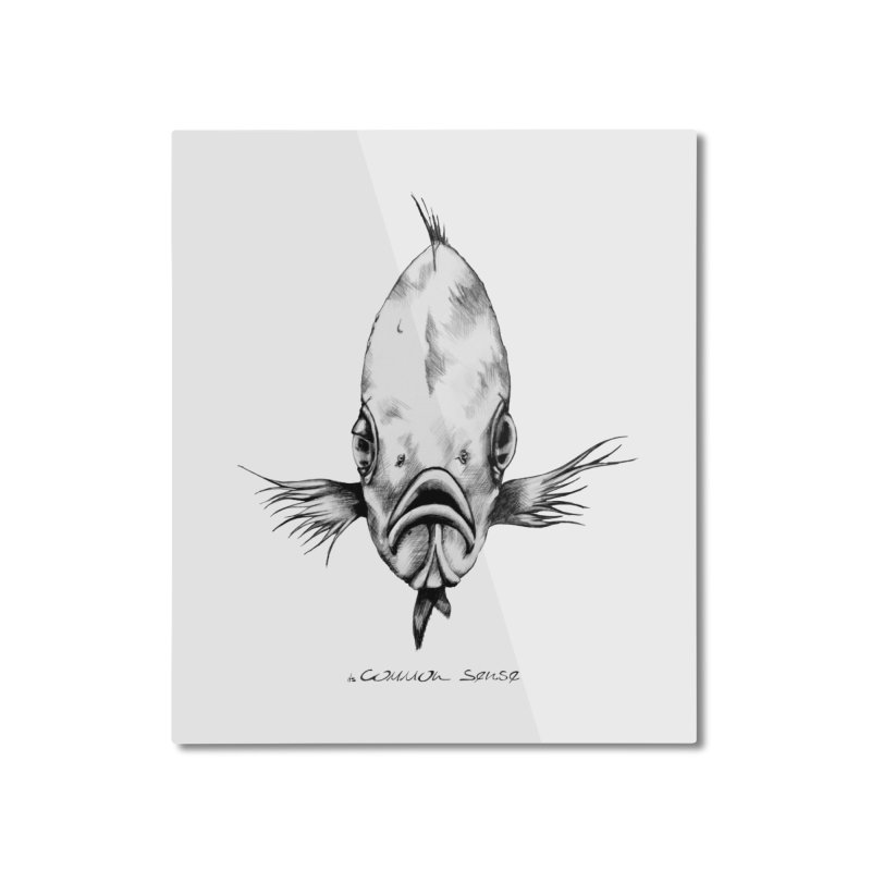 The Fish Home Mounted Aluminum Print by it's Common Sense