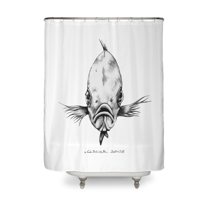 The Fish Home Shower Curtain by it's Common Sense