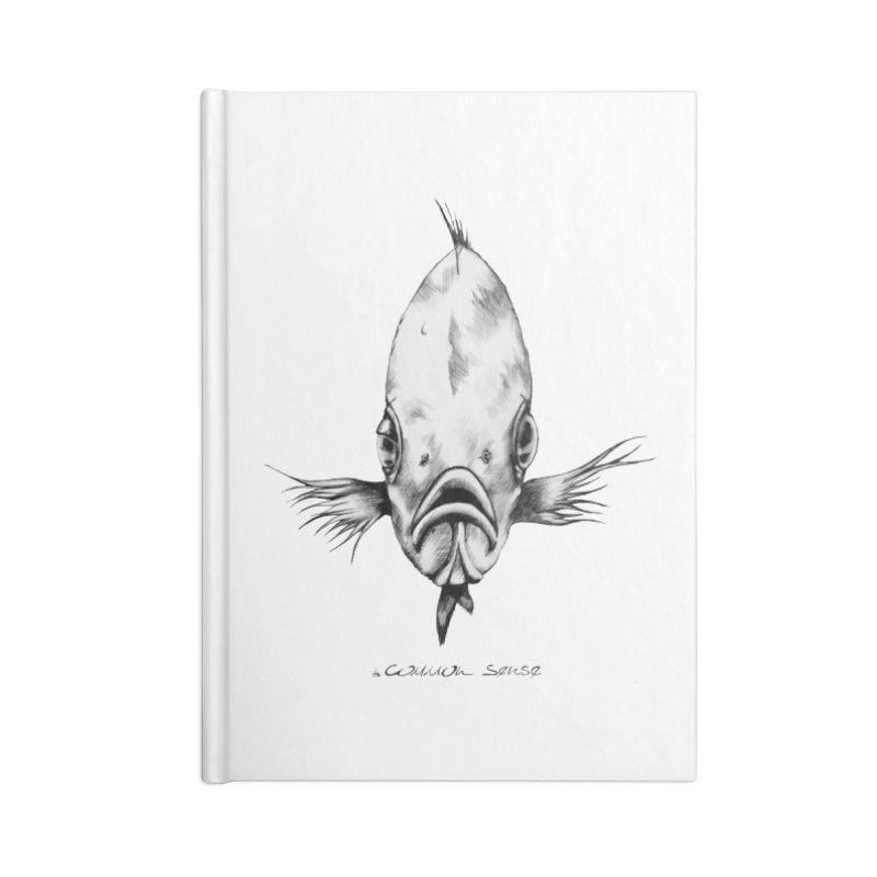 The Fish Accessories Lined Journal Notebook by it's Common Sense