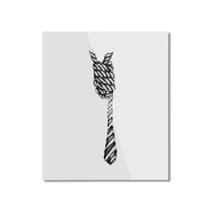 The Tie Home Mounted Aluminum Print by it's Common Sense