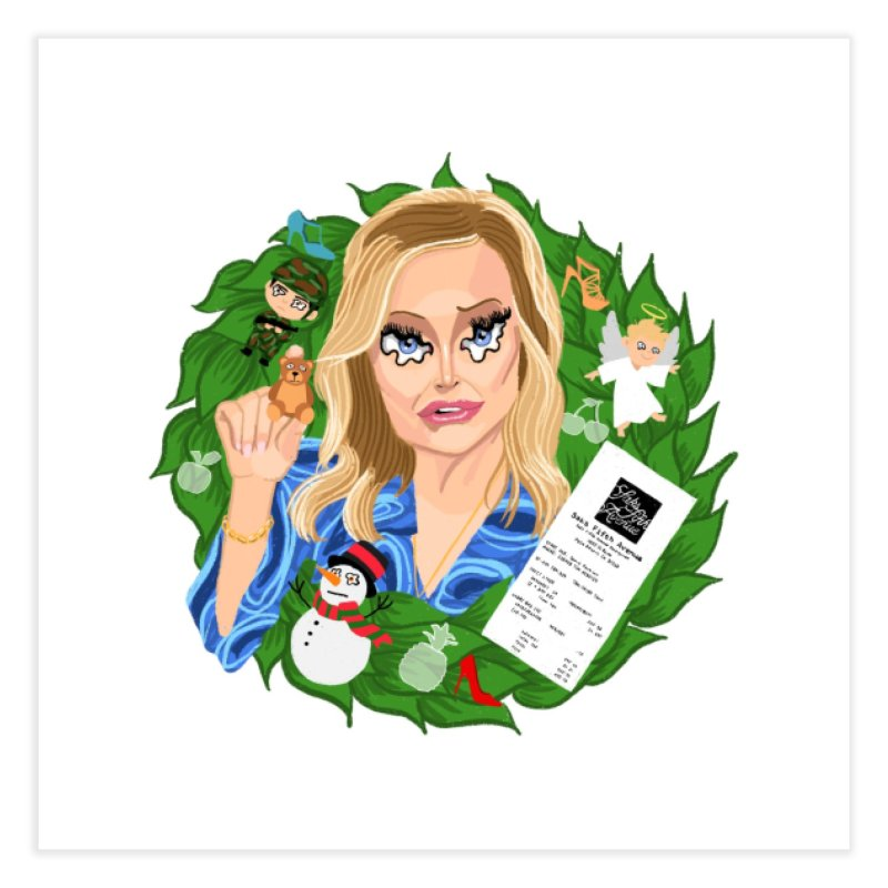 Kathy Hilton's Demented Wreaths Home Fine Art Print by DrunkDrawn Artist Shop