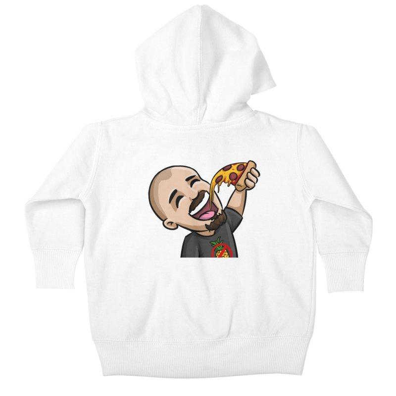 P Word - White Kids Baby Zip-Up Hoody by itsHalfpint's Merch
