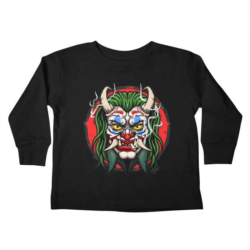 Oni Laughs Last Kids Toddler Longsleeve T-Shirt by itsHalfpint's Merch
