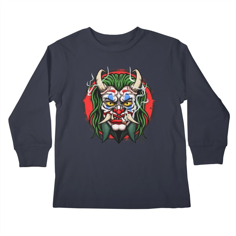 Oni Laughs Last Kids Longsleeve T-Shirt by itsHalfpint's Merch