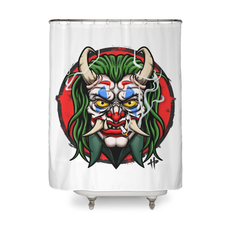 Oni Laughs Last Home Shower Curtain by itsHalfpint's Merch