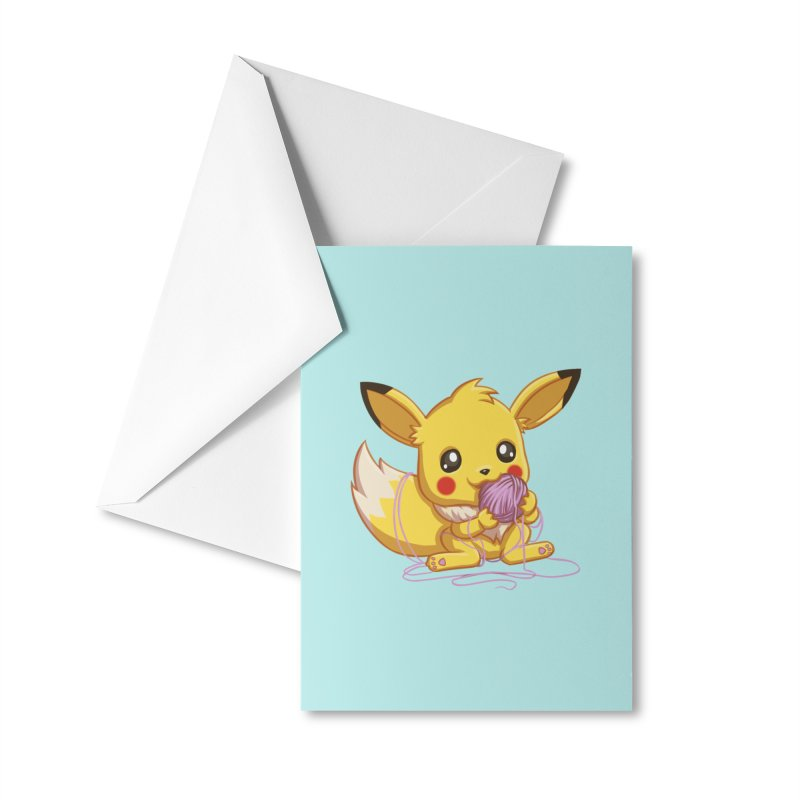 Eevachu Accessories Greeting Card by itsHalfpint's Merch