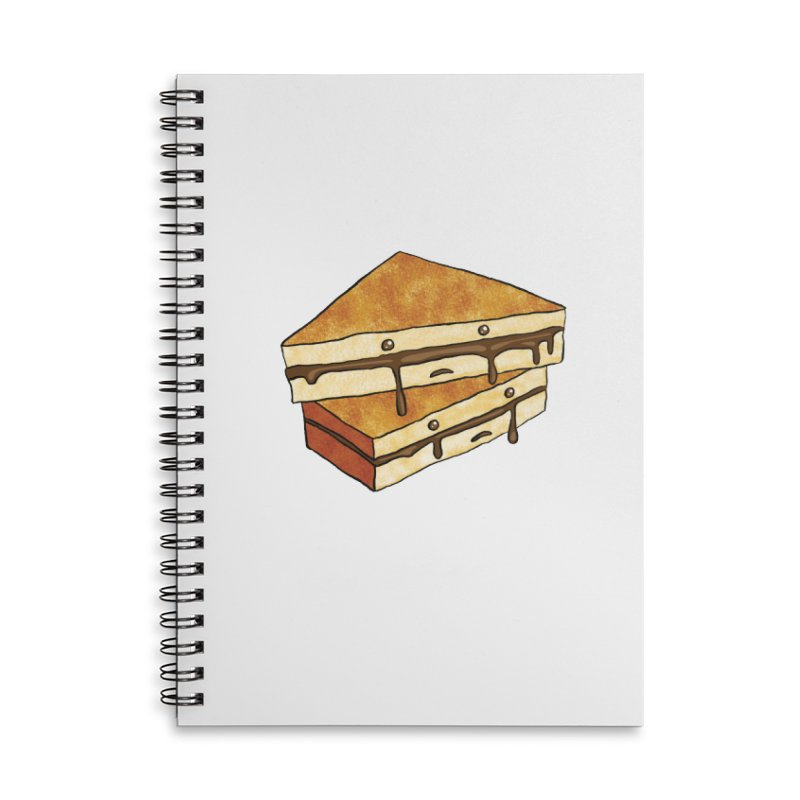 sad af: chocolate sandwich Accessories Lined Spiral Notebook by How to Eat Your Feelings
