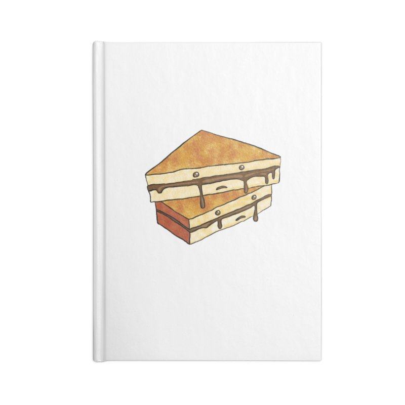 sad af: chocolate sandwich Accessories Lined Journal Notebook by How to Eat Your Feelings