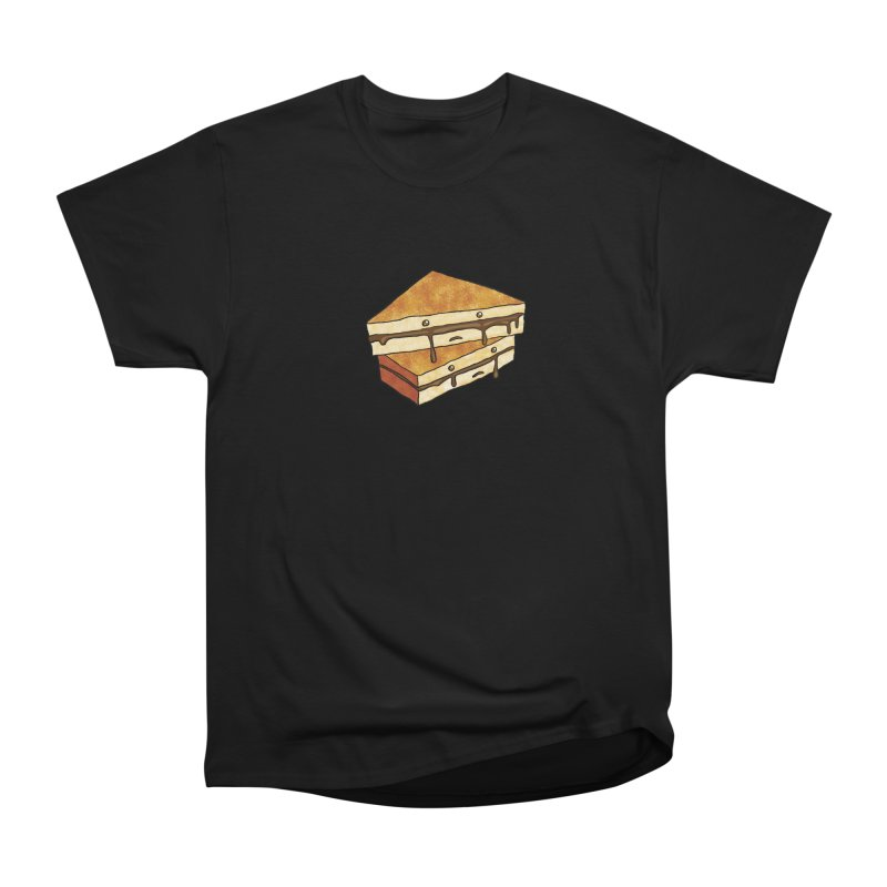 sad af: chocolate sandwich Women's Heavyweight Unisex T-Shirt by How to Eat Your Feelings