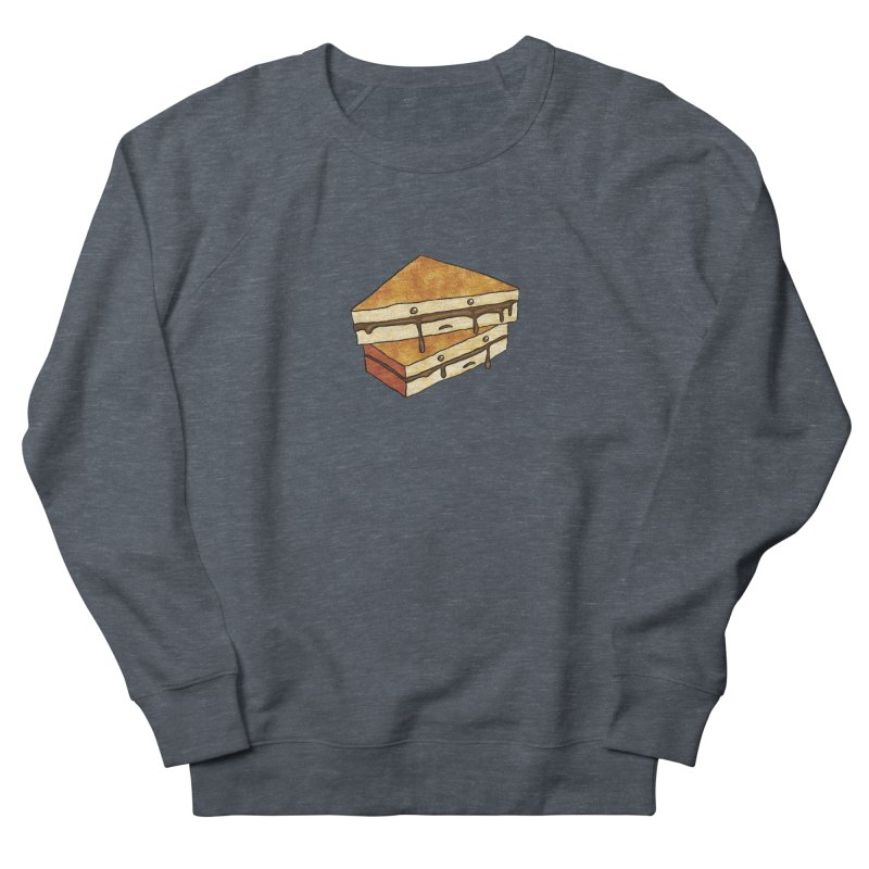 sad af: chocolate sandwich Men's French Terry Sweatshirt by How to Eat Your Feelings
