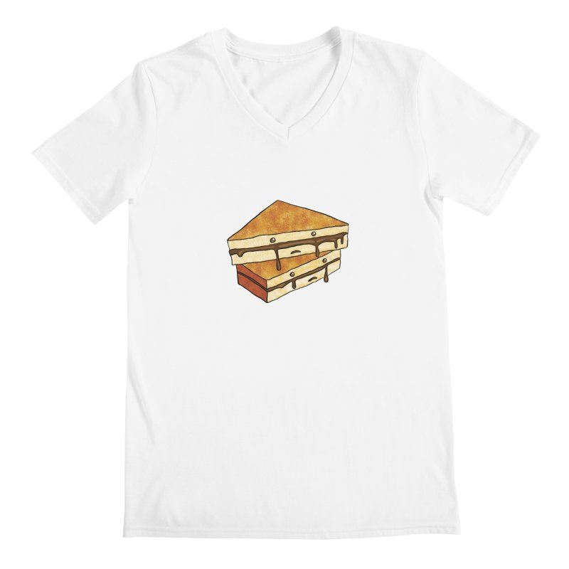 sad af: chocolate sandwich Men's V-Neck by How to Eat Your Feelings