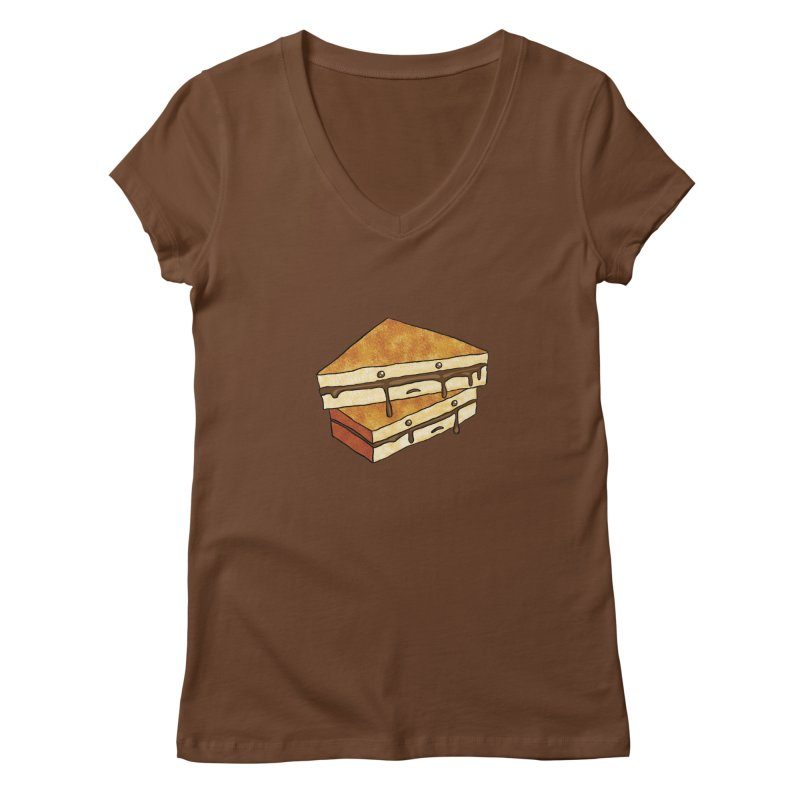 sad af: chocolate sandwich Women's Regular V-Neck by How to Eat Your Feelings