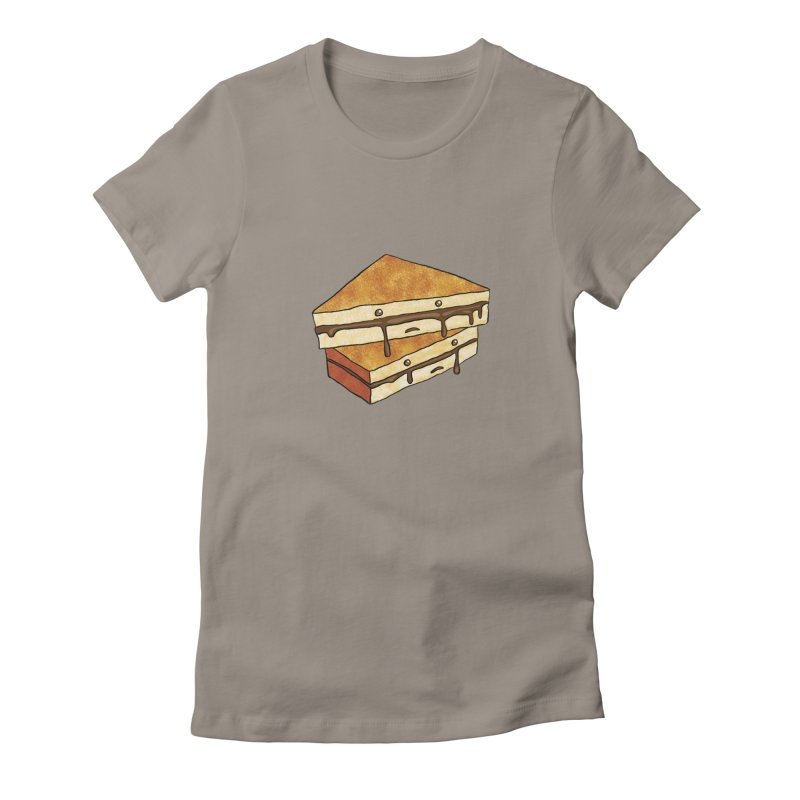 sad af: chocolate sandwich Women's Fitted T-Shirt by How to Eat Your Feelings