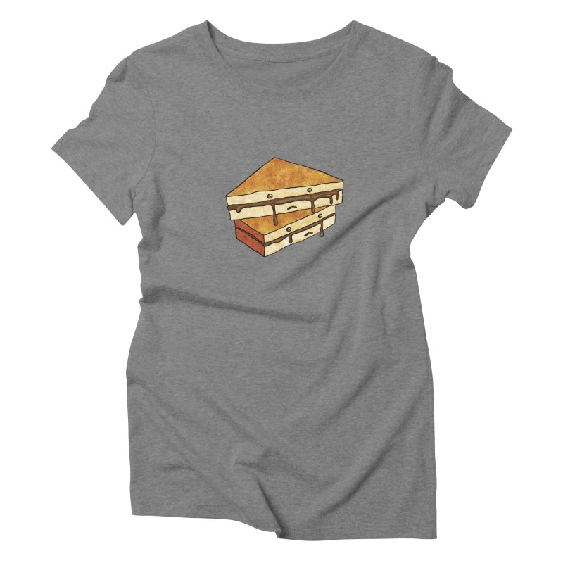 sad af: chocolate sandwich Women's Triblend T-Shirt by How to Eat Your Feelings
