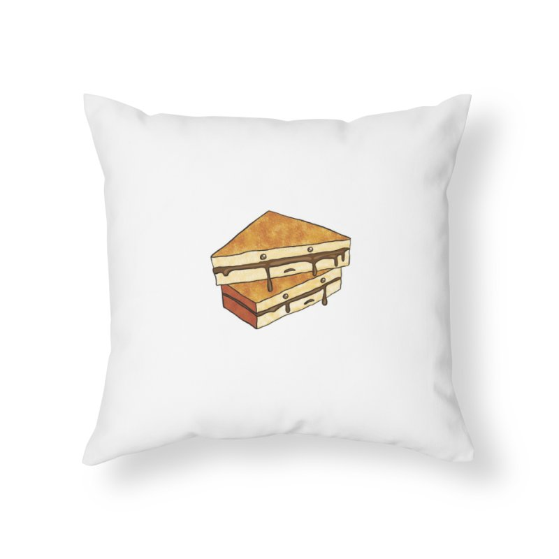 sad af: chocolate sandwich Home Throw Pillow by How to Eat Your Feelings